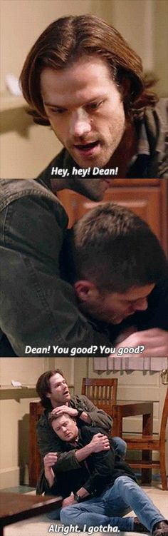 Supernatural 11x16 | Safe House awww Sammy is looking out for his big brother <3 <3