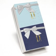 Modern Monogram Napkin Gift Set in Choice of Colors