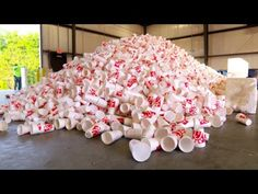 The kiddos would love this! Ever wonder just where all of those styrofoam cups go? Here's the answer!!! Super cool recycling video from Chick-Fil-A!
