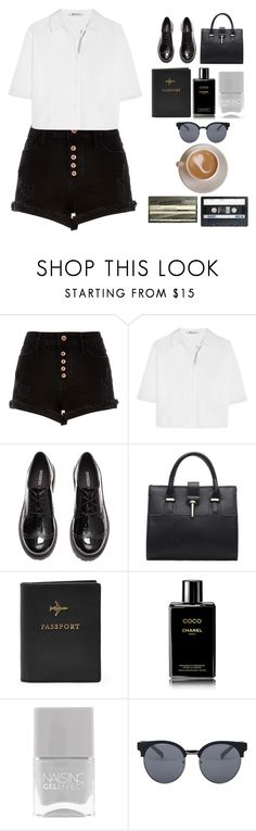 """""""Boy you belong to me I got the recipe and it's called black magic ........."""" by blushingfreckles ❤ liked on Polyvore featuring River Island, T By Alexander Wang, H&M, FOSSIL, Chanel, Nails Inc., Quay and Aesop"""