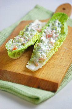 Smoked salmon lettuce wraps. Phase 3