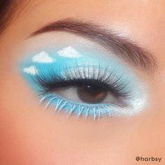 Fancy Makeup, Edgy Makeup, Creative Eye Makeup, White Makeup, Disney Eye Makeup, Makeup Inspo, Fairy Eye Makeup, 80s Makeup Trends, Makeup Ideas