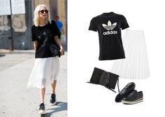 Check out this cool outfit from Courtney Trop aka always judging. We love this for a casual Wednesday afternoon.  This is why we love being a sportive fashionista and Adidas  shoes! #sneakers #streetstyle #fallstyle #ootd