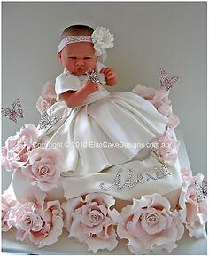 Wow, baby girl amazing #cake