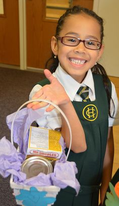 Students collected food for the North York Harvest Food Bank at our 2014 Harvest Festival!