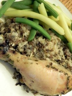 Slow Cooker Chicken Legs With Wild Rice A Deliciously Healthy And Easy Recipe The Happy Housewife Crispy Chicken Recipes, Slow Cooker Chicken, Crockpot Dishes, Crock Pot Cooking, Healthy Cooking, Healthy Recipes, Easy Recipes, Slow Cooker Recipes, Crockpot Recipes