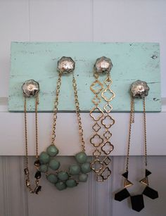 Silver and Gold Jewelry Organizer by ALittleDabWillDoYou on Etsy