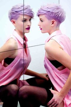 An un peu short reflective lilac style | #haircare #colour #leonorgreyl | www.leonorgreyl.com