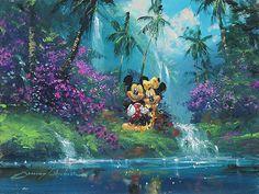 Mickey Mouse - Hawaiian Dream - Original - James Coleman - World-Wide-Art.com