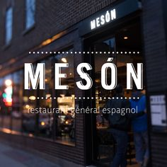 Set in the heart of Villeray, Mesón is a casual, one of a kind bistro offering a variety of comforting and original Spanish inspired dishes. At Mesón, one can expect to be enthusiastically received by the restaurant's young and dynamic team. Restaurant Montreal, Marina Restaurant, Bakery Logo, Restaurant Branding, Web Design Tools, Menu Design, Logo Design, Clean Websites, Cool Websites