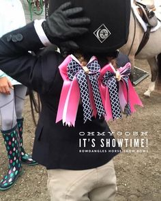 Thank you @charlesowenhelmets for protecting our children. #bowdanglesgirl #bowdangleshorseshowbows Equestrian girls in Bowdangles Horse Show Bows, making the best memories possible.