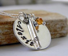 Personalized BaseBall Necklace Softball Necklace by RosesDesigns, $35.00