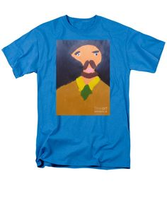 Patrick Francis Turquoise Designer T-Shirt featuring the painting Portrait Of Eugene Boch 2015 - After Vincent Van Gogh by Patrick Francis