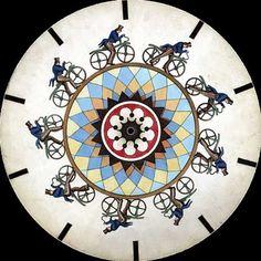 Cyclist phenakistoscope