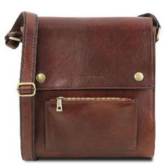 5c810d2b0c Sac Bandoulière Cuir Homme Marron - Tuscany Leather
