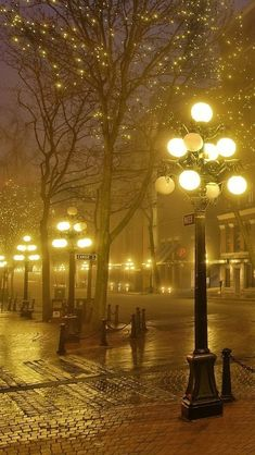 Foggy Night, Vancouver, BC photo via amy