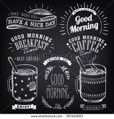 stock-vector-set-of-graphic-elements-for-design-of-theme-of-breakfast-good-morning-cups-of-coffee-and-tea-397402693.jpg (450×470)