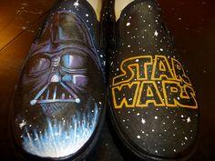Long ago, in a galaxy far, far away...  Custom Hand Painted Shoes - Star Wars. Rytee Shoes.