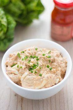Tonijnsalade met ei. Lekker op brood of toastjes. Laat het smaken!