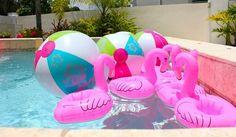 Flamingo Themed Pool Party via Kara's Party Ideas | Kara'sPartyIdeas.com #Summer #PoolParty #Party #Ideas #Supplies (25)