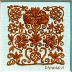 Hungarian embroidery in a 'chocolate' color Hungarian Embroidery, Folk Embroidery, Learn Embroidery, Shirt Embroidery, Butterfly Embroidery, Chain Stitch Embroidery, Embroidery Stitches, Embroidery Designs, Stitch Head