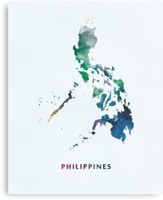 'Philippines' Photographic Print by MonnPrint Philippine Map, Map Artwork, Artwork Ideas, Filipino Culture, Filipino Tattoos, Map Painting, Map Wallpaper, Watercolor Map, Thing 1