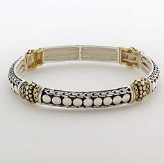 Napier® Two-Tone Filigree Stretch Bracelet