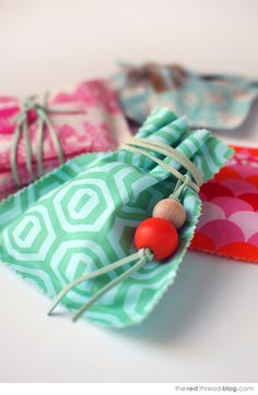 the red thread fabric gift bags group