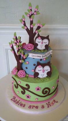 Owl cake...whoa very adorable