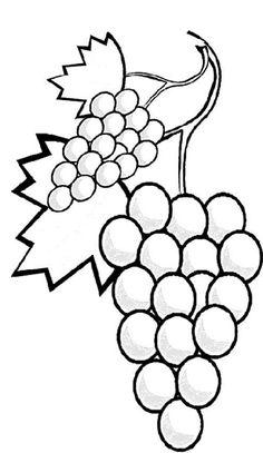 Mewarnai Buah-Buahan – Anggur