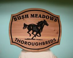 Horse Farm Entrance Sign Personalized by GPandSonWoodcrafting