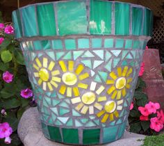 mosaic flower pot - Google Search