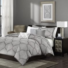 Madison Park Amara 6 Piece Duvet Cover Set & Reviews | Wayfair