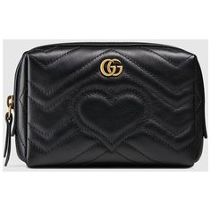 Gucci Gg Marmont Cosmetic Case ($520) ❤ liked on Polyvore featuring beauty products, beauty accessories, bags & cases, travel bag, cosmetic bag, travel kit, toiletry kits and make up bag