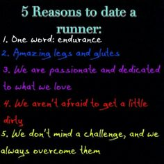 Reasons to date a track runner