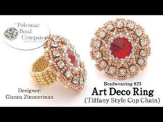 1920's Art Deco style Ring Tutorial - Beading4perfectionis   Bead-Patterns ~ Seed Bead Tutorials