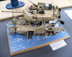 """That be my friend Dicky """"Nemo"""" Francis M1A2 build with 100% scratched interior. One of THE BEST Scratch-builders out there!"""