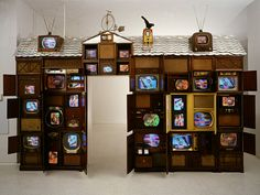 "Nam June Paik - ""Skin has become inadequate in interfacing with reality. Technology has become the body's new membrane of existence. Fluxus Art, Nam June Paik, Art Worksheets, Installation Art, Art Installations, Speaker Design, Assemblage Art, Textile Artists, Medium Art"