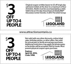 photograph relating to Legoland Printable Coupons identify Legoland coupon toronto - Discount codes and bargains for child things