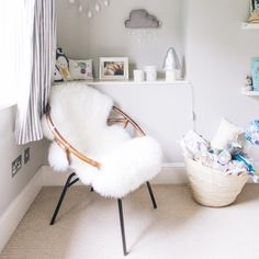 Neutral and modern styling for this stunning nursery makeover.