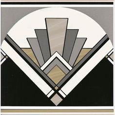 Love this pattern - Art Deco inspired patterns are huge at the moment, thanks to The Great Gatsby. Bring the clean lines and bold symmetry into your home. Art Deco fan tile by Original Style. Art Deco Decor, Casa Art Deco, Arte Art Deco, Art Deco Tiles, Motif Art Deco, Art Deco Design, Wall Tiles, Tile Art, 1920s Art Deco