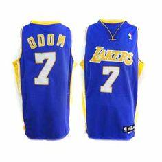Lamar Odom Jersey, Los Angeles Lakers #7 Blue NBA Jersey