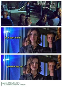 It's called self-expression    Phil Coulson, Jemma Simmons    Agents of PSYCH    #humor #fanedit #crossover