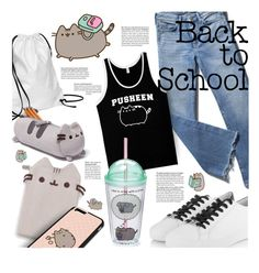 """Pack to School With Pusheen"" by stacey-lynne ❤ liked on Polyvore featuring Xenab Lone, Michael Kors, Pusheen and Gund"