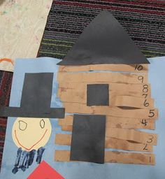 February 17th is President's Day! Activity for President's Day- Lincoln's Log Cabin! Cut and count  and then glue the number of strips needed for Lincoln's cabin. |Skills: fine motor, math, colors|