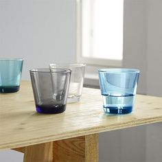 iittala Kartio Medium Tumblers The iittala Kartio glassware, designed by Kaj Franck in is the perfect marriage of color and form. Internationally appreciated for its durable, simple and practical shape and function, the ittala. Carafe, Kitchenware, Tableware, Shops, Geometric Form, Scandinavian Living, Drinking Glass, Nordic Design, Shop Interiors