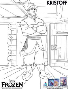 Kristoff Coloring Sheet from Disney's Frozen