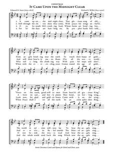 Sheet of music: It Came Upon a Midnight Clear Christmas Carol Christmas Carols Songs, Christmas Songs Lyrics, Christmas Sheet Music, Grinch Christmas, Xmas, Music Page, Music Crafts, Christian Songs, Music Lyrics