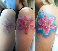 #tattoo #idea #ink #tattooartist #tattoonhamon #coverup #tattoocoverup  #flowers