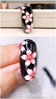 Rose Nail Art, Floral Nail Art, Rose Nails, Flower Nails, Gel Nails, Nail Polish, Rose Nail Design, Stiletto Nails, Nail Art Designs Videos